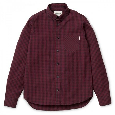 CARHARTT Preston Shirt Navy/Cranberry