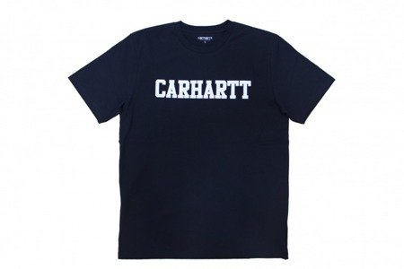 CARHARTT S/S College T-Shirt Dark Navy/White - FW17