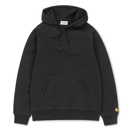 Carhartt Bluza Hooded Chase Sweatshirt Black/Gold - SS19