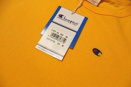 Champion Koszulka Reverse Weave Small Logo T-Shirt Yellow - SS20