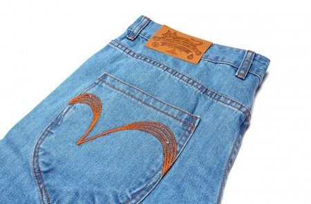 TURBOKOLOR Spodnie President Slim-Fit Denim - Light Blue - SS16