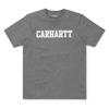 Carhartt Koszulka S/S College T-Shirt Dark Grey Heather/White - FW18